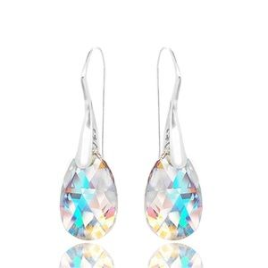 Crystal 925 Silver Earrings Blue Drop earrings